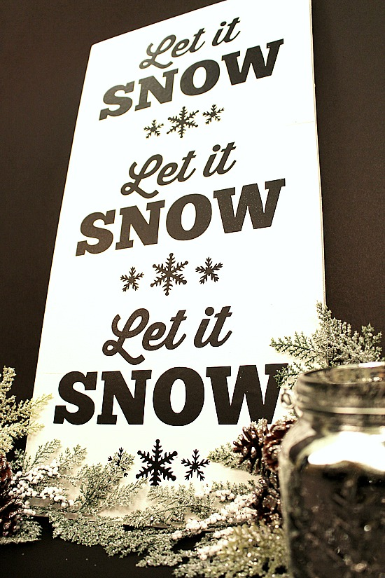 DIY-Let It Snow-Sign-4a