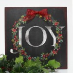 "DIY ""JOY"" Sign"