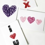 DIY String Art Valentines Day Cards
