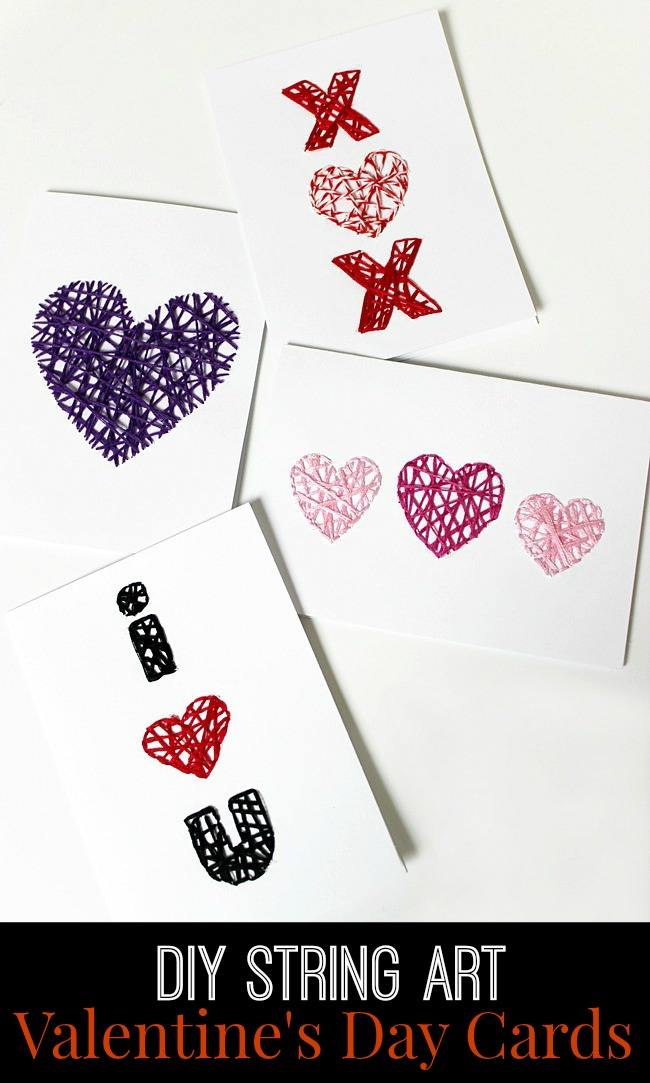 DIY-String-Art-Valentine's Day-Cards-Artzy Creations 2
