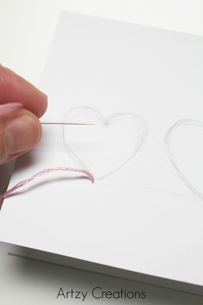 DIY-String-Art-Valentine's Day-Cards-Artzy Creations 6