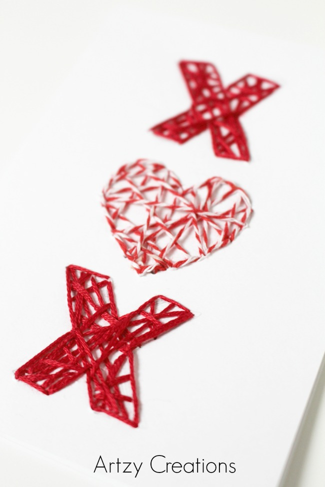 DIY-String-Art-Valentine's Day-Cards-Artzy Creations 8