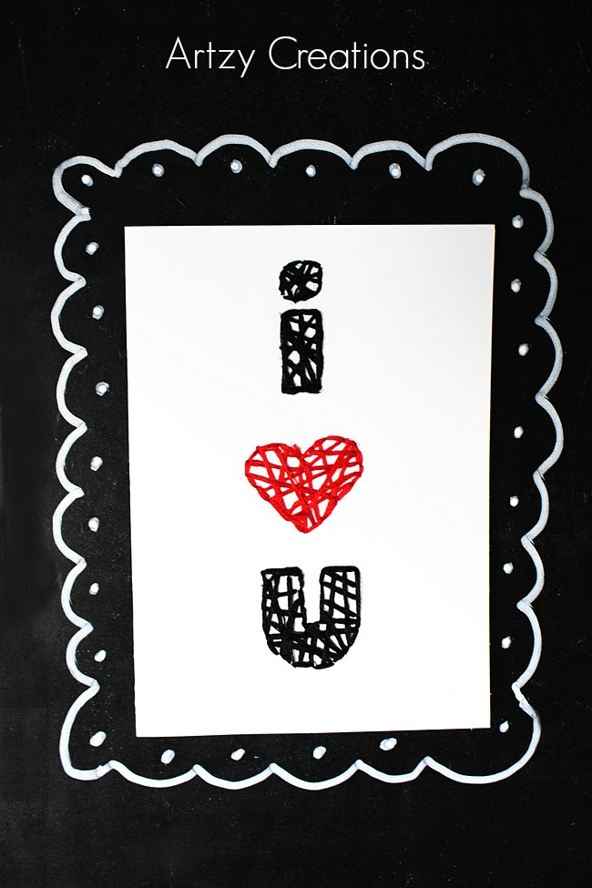 DIY-String-Art-Valentine's Day-Cards-Artzy Creations 9