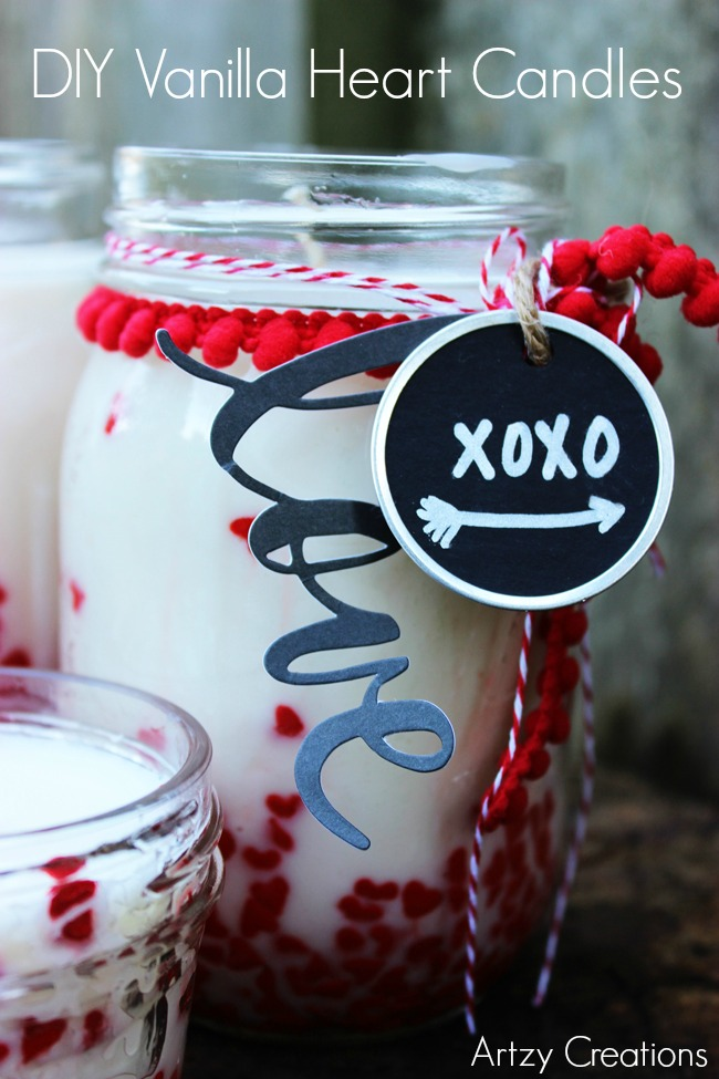 DIY Vanilla Heart Candle-Artzy Creations 2