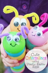 Caterpillars with Recycled Easter Eggs