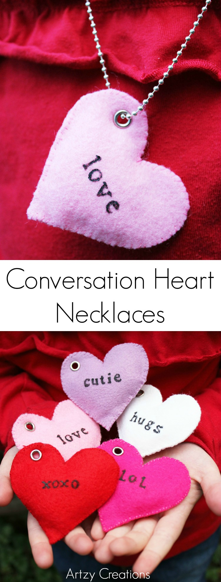Conversation Heart Necklace-Artzy Creations 8