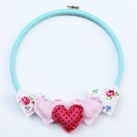 DIY Hoop Art with Hearts