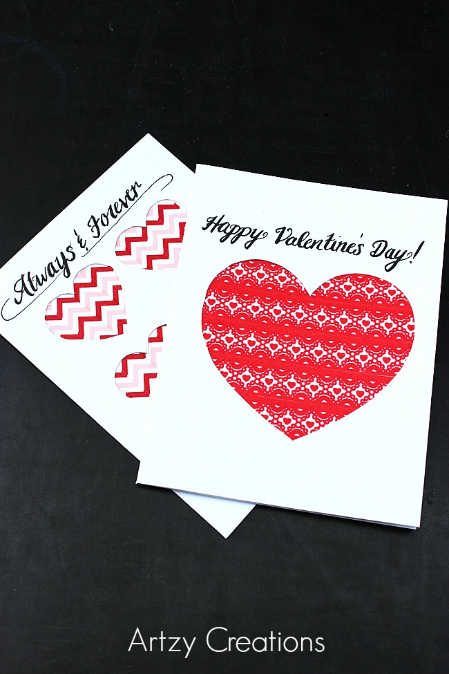 Easy-Last-Minute-Valentine's-Day-Cards Artzy Creations 4