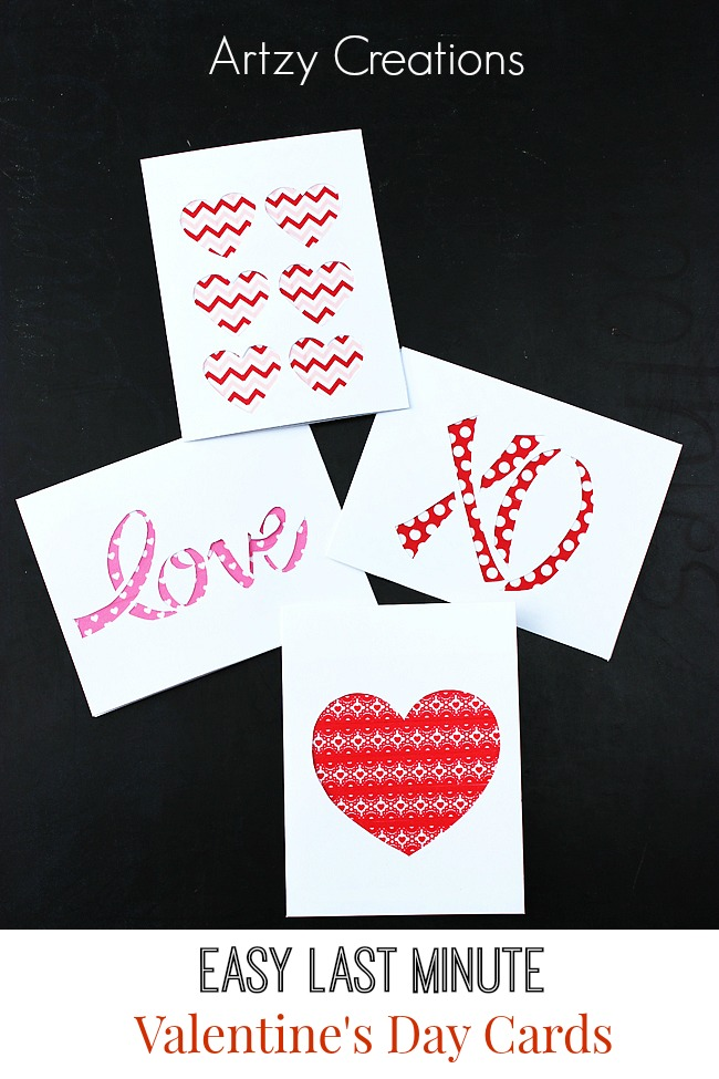 easy last minute valentine's day cards - artzycreations, Ideas