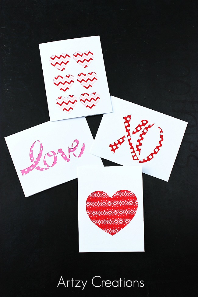 Easy-Last-Minute-Valentine's-Day-Cards Artzy Creations 6