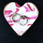 Marbled Heart Ring Dish