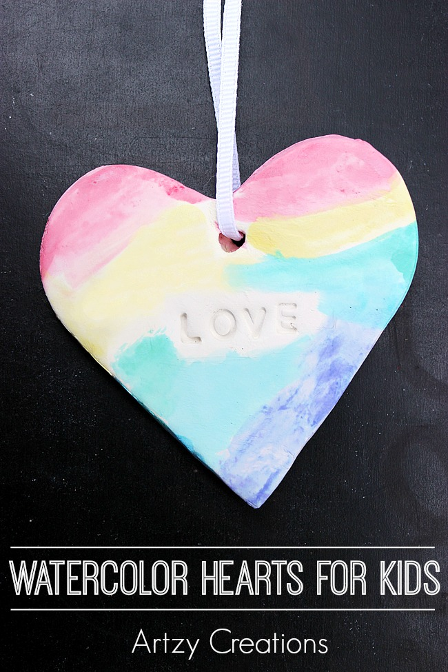 Watercolor-Hearts-For-Kids-Artzy Creations 4