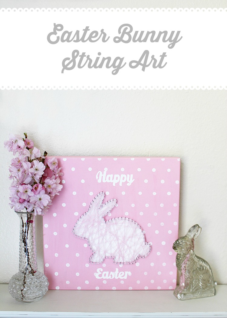 easter bunny string art with free templates artzycreations com