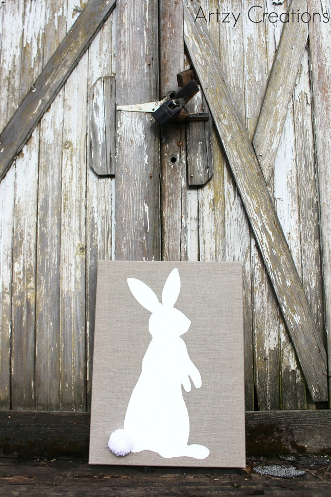 DIY-Easter-Bunny-Art-Artzy Creations 1