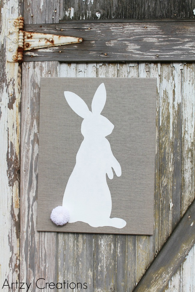 DIY-Easter-Bunny-Art-Artzy Creations 4