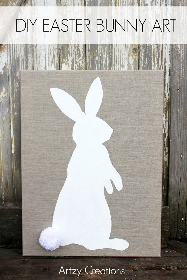 DIY-Easter-Bunny-Art-Artzy Creations