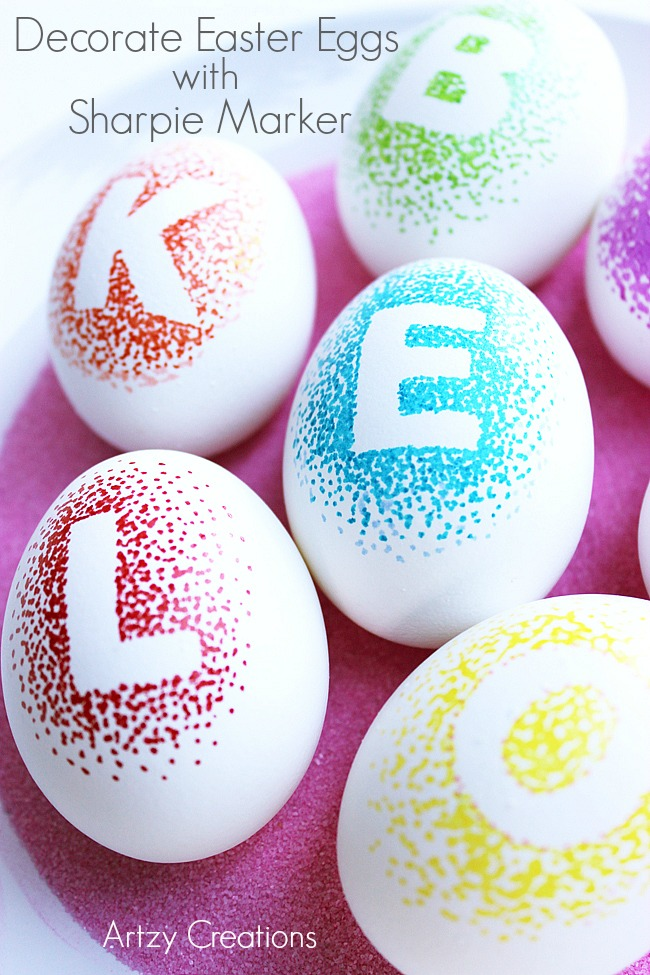 Decorate-Eggs-With-Sharpie-Markers-Artzy Creations