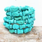 Easy Memory Wire Turquoise Bracelet