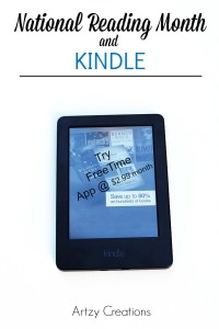 National Reading Month and Amazon Kindle-Artzy Creations 4