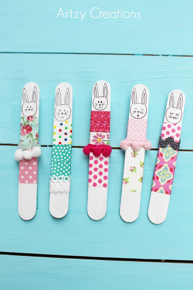 Popsicle-Stick-Bunnies-Artzy Creations 2