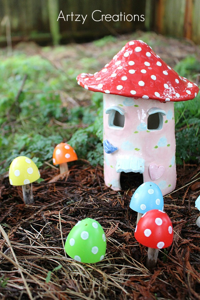Recycled-Plastic-Easter-Egg-Toadstools 5-Artzy Creations