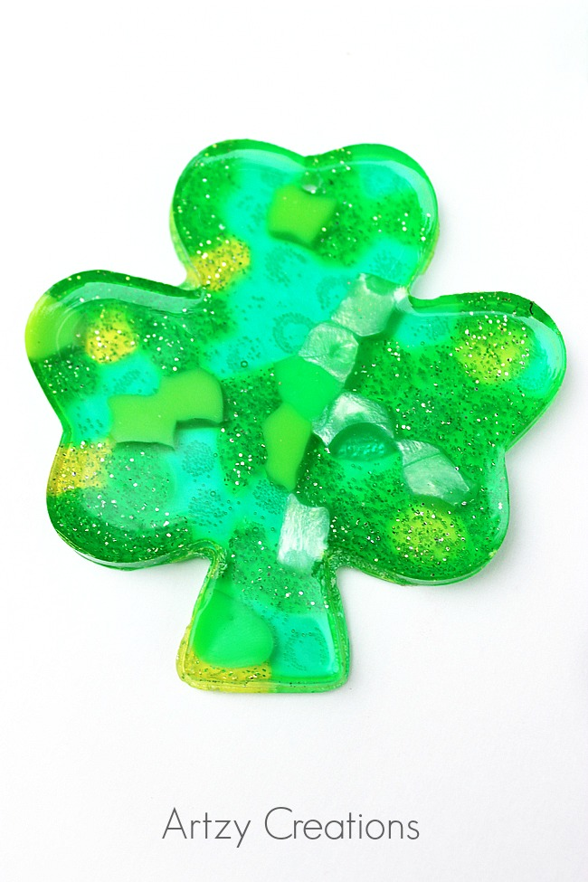 Shamrock-Suncatchers-Artzy Creations 1
