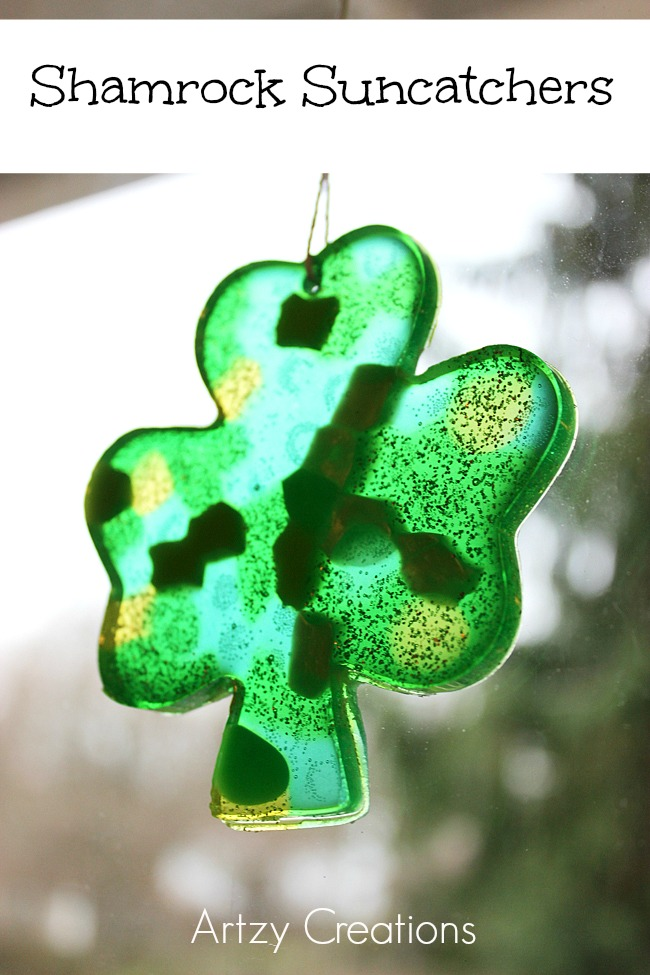 Shamrock-Suncatchers-Artzy Creations 3a