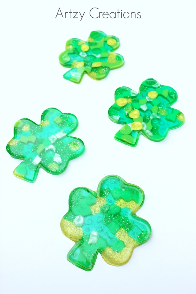 Shamrock-Suncatchers-Artzy Creations