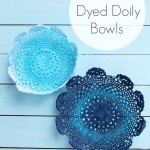 Dyed Doiley Bowls