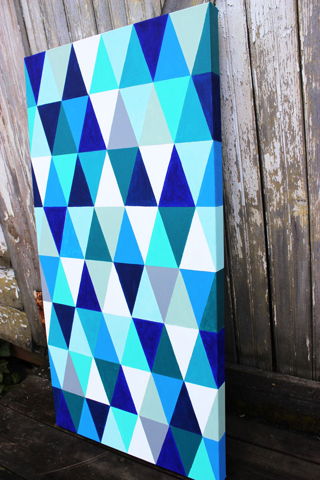 Diy geometric painting Painting geometric patterns on walls