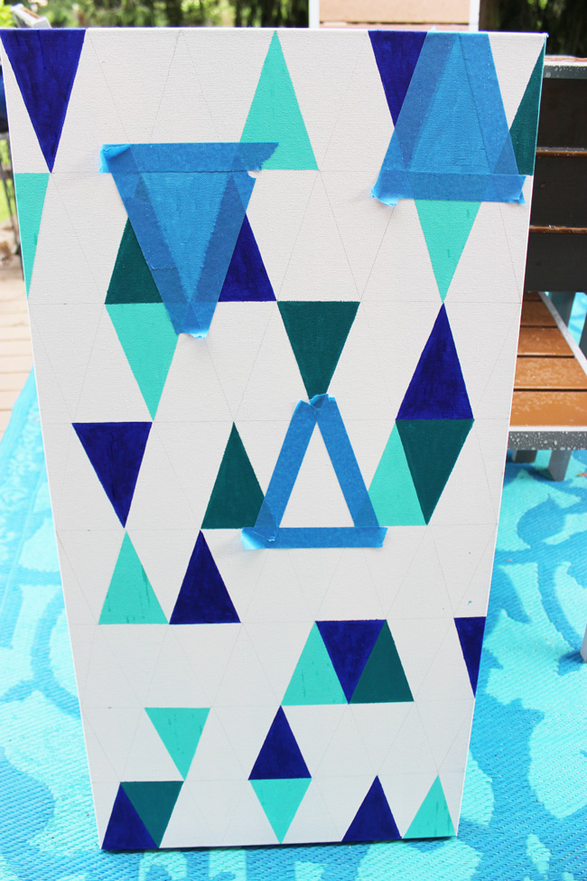 DIY-Geometric-Painting-Artzy Creations 3