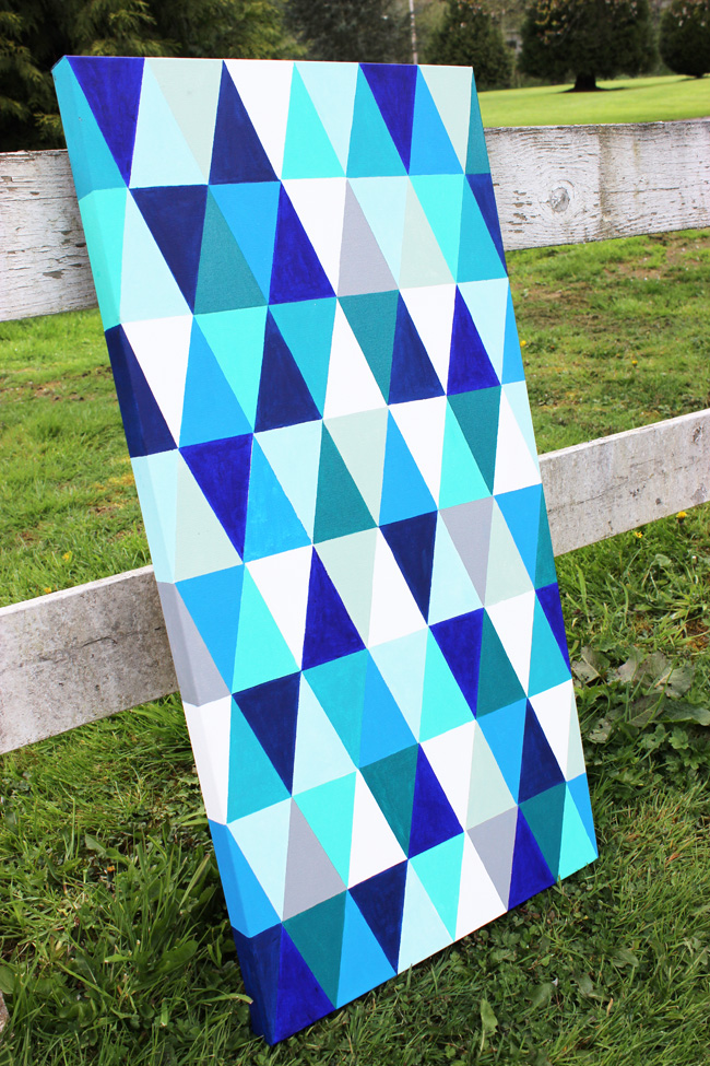 DIY-Geometric-Painting-Artzy Creations 5