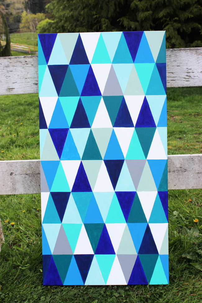 DIY-Geometric-Painting-Artzy Creations 6