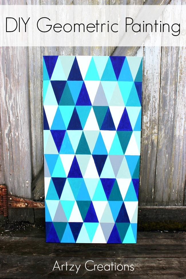 DIY-Geometric-Painting-Artzy Creations a