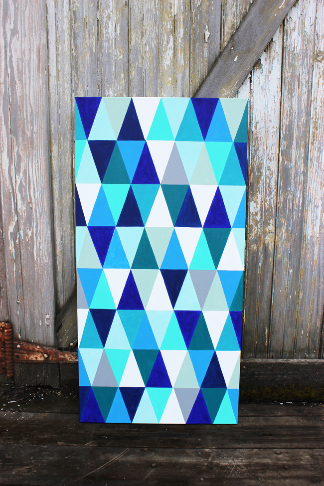 DIY-Geometric-Painting-Artzy Creations
