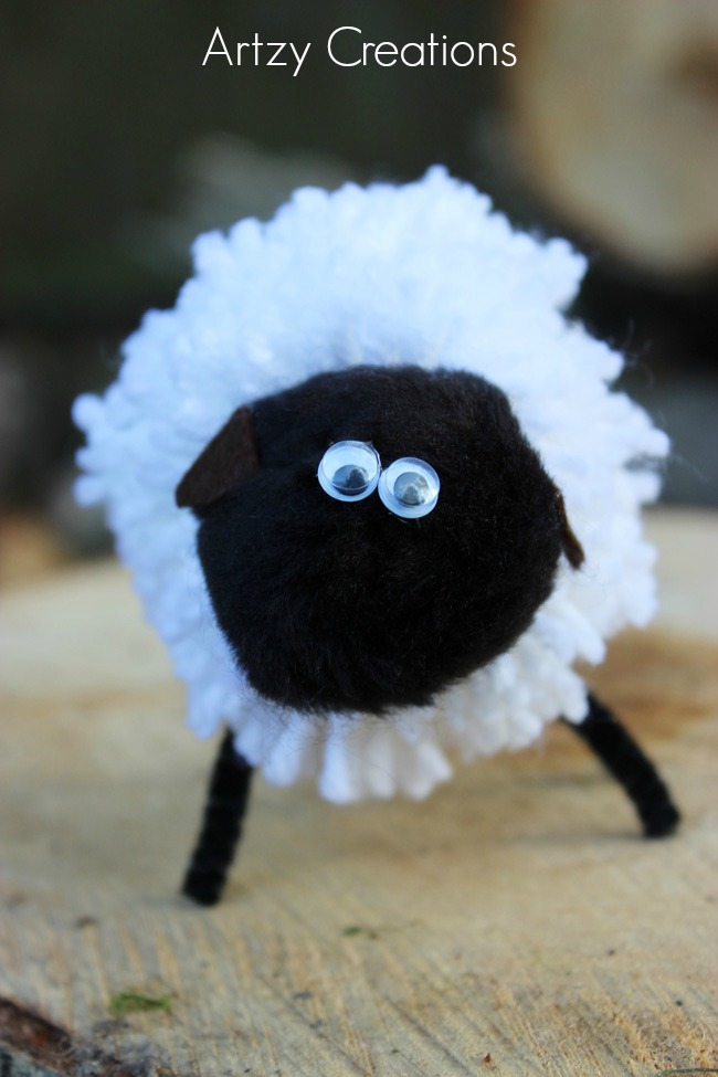 Pom Pom Sheep-Artzy Creations 3
