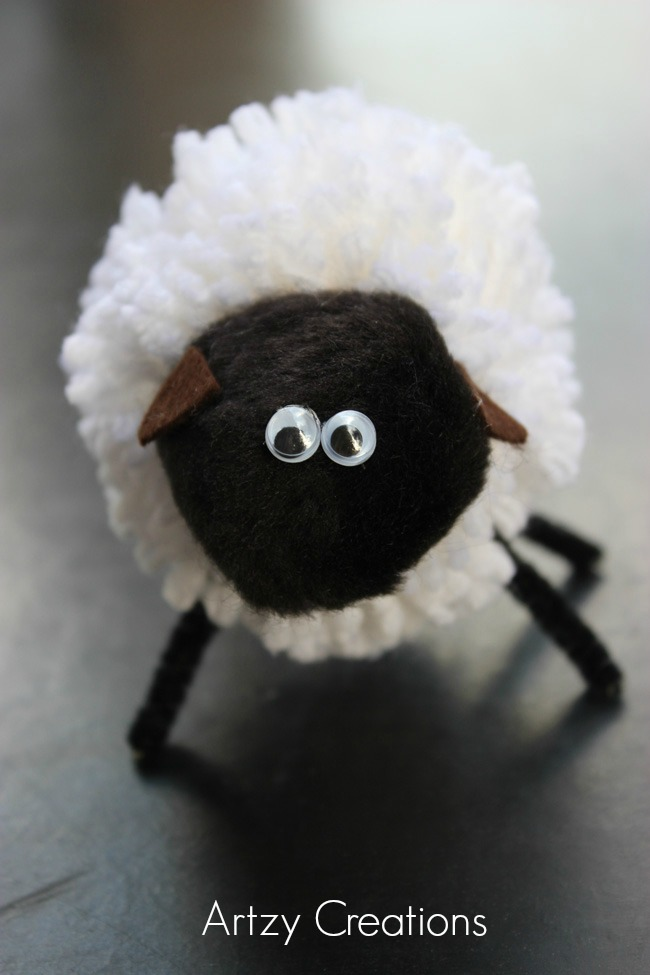 Pom Pom Sheep-Artzy Creations 5