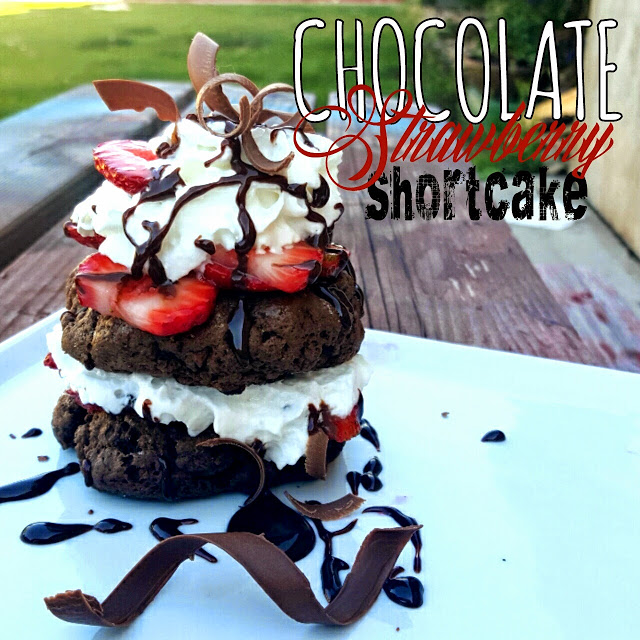 This Chocolate Strawberry Shortcake looks so yummy by Lou Lou Girls .