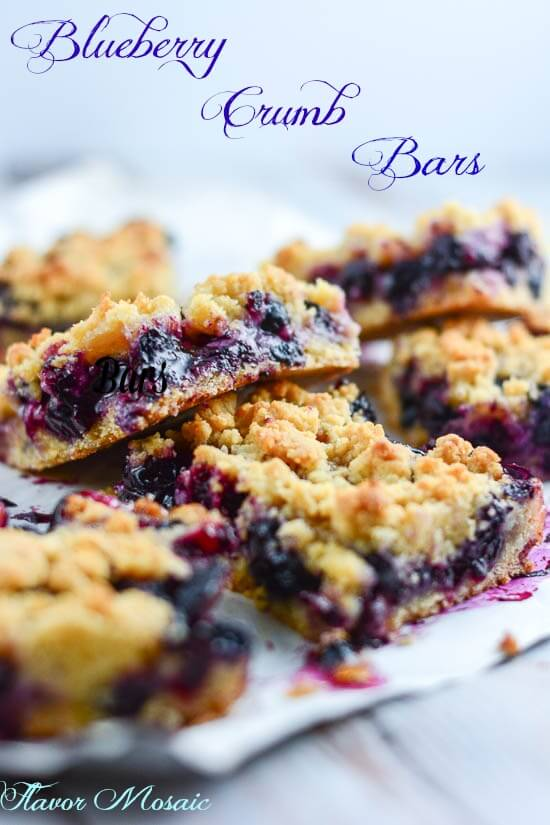Blueberry Crumb Bars by Flavor Mosaic