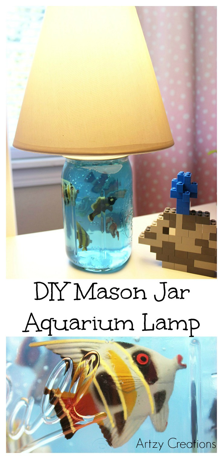 DIY-Mason-Jar-Aquarium-Lamp-Artzy Creations 4a
