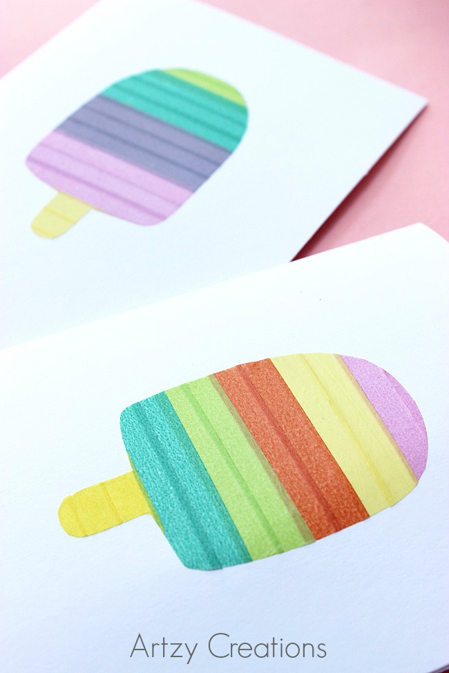 DIY-Washi-Tape-Popsicle-Cards-Artzy Creations 4