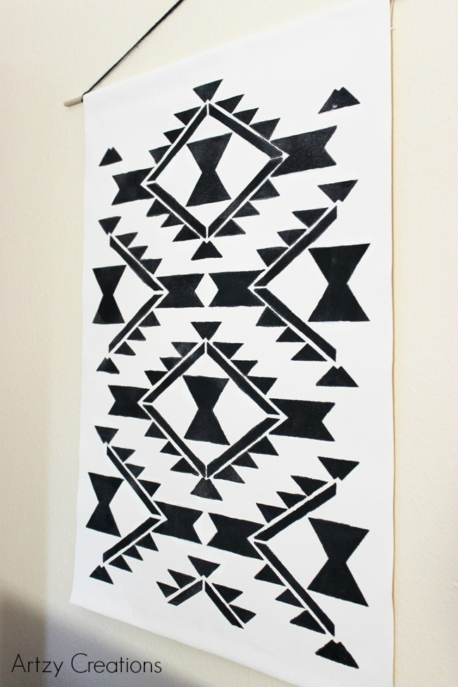 Easy-DIY-Wall-Hanging-Artzy Creations 4