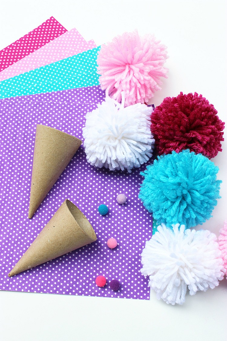 Pom-Pom-Ice-Cream-Cones-For-Kids-Artzy-Creations-2
