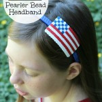 4th of July Perler Bead Headband