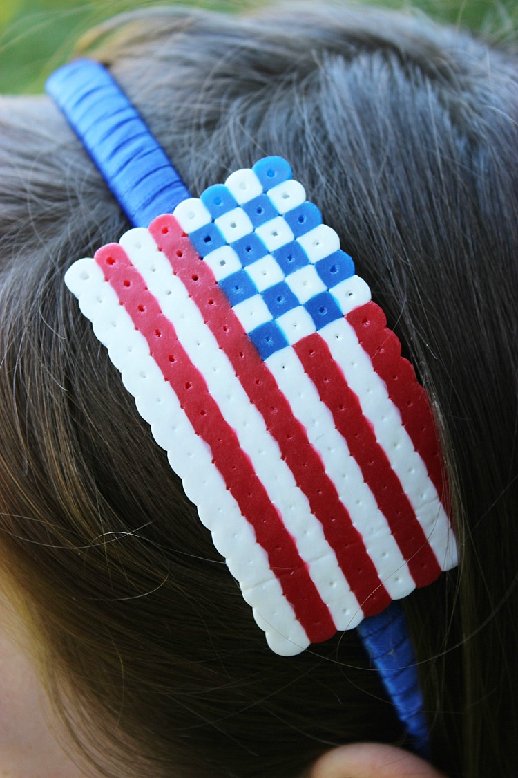 4th-of-July-Perler-Bead-Headband-Artzy Creations 6