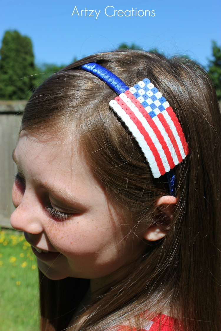 4th-of-July-Perler-Bead-Headband-Artzy Creations 7a