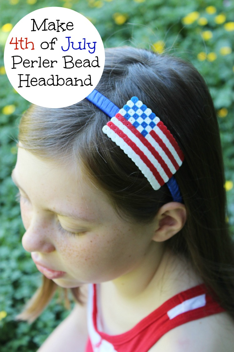 4th-of-July-Perler-Bead-Headband-Artzy Creations a