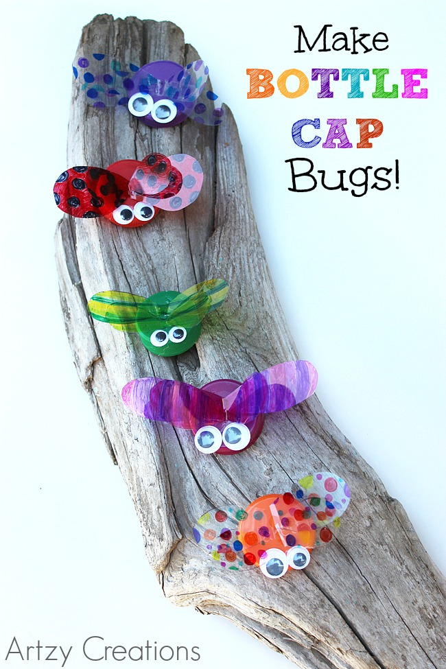 Bottle-Cap-Bugs-Artzy Creations 3a