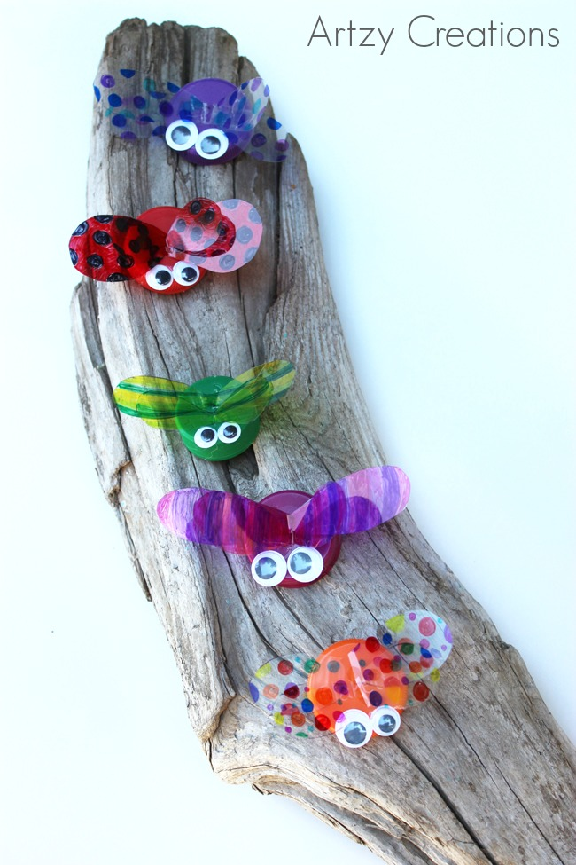 Bottle-Cap-Bugs-Artzy Creations 8