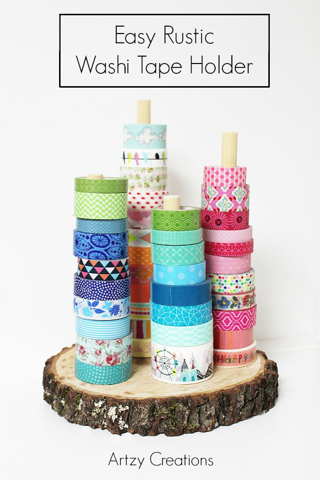 Easy-Rustic-Washi-Tape-Holder-Artzy Creations 1